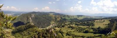 Výhľad z Hričovského Hradu