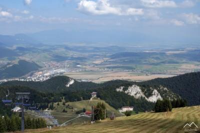 Malinô Brdô, Ružomberok, v zadu Západné Tatry