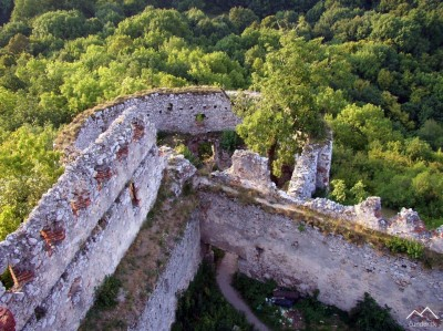 Plavecký Hrad - Delová bašta zo zač. 17.storočia. (pohľad z druhej bašty)