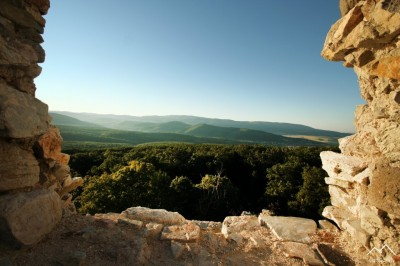 Výhľad z Hrušovského Hradu